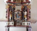 Altar am neuen Standort in Wiedersberg